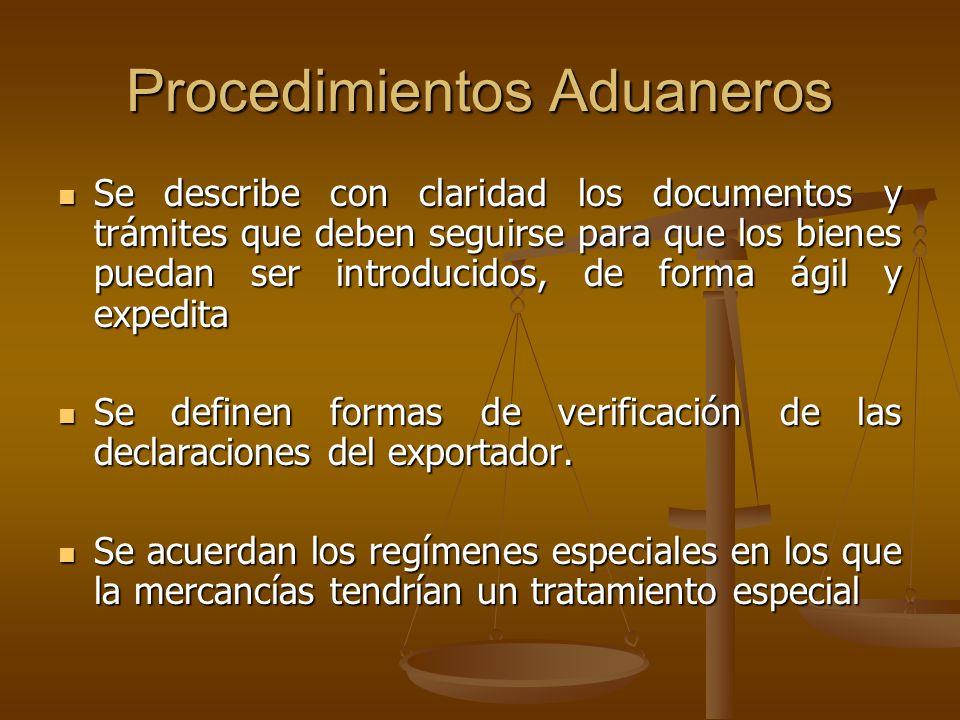 Procedimientos Aduaneros