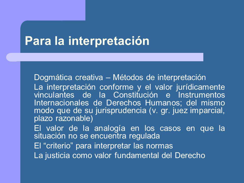 Para la interpretación