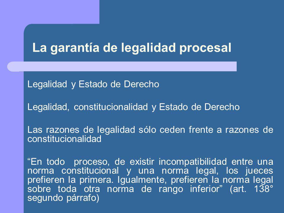 La garantía de legalidad procesal