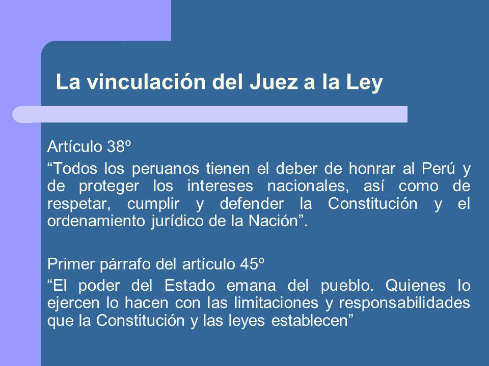 La vinculación del Juez a la Ley