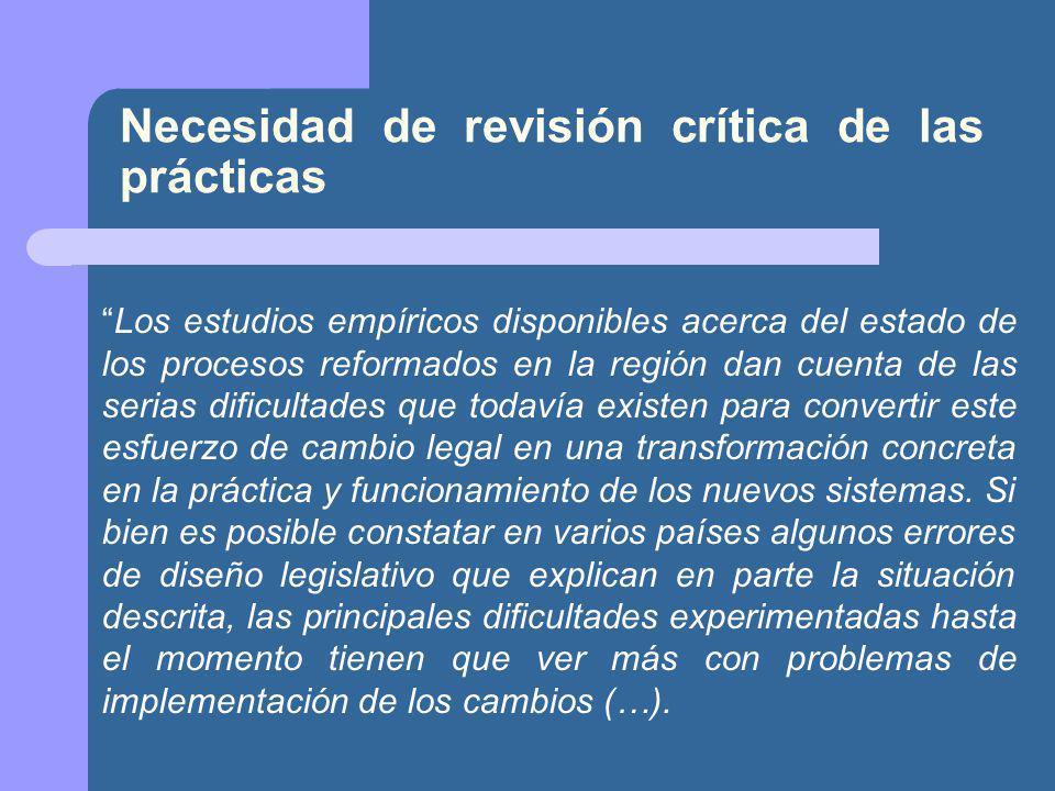 Necesidad de revisión crítica de las prácticas