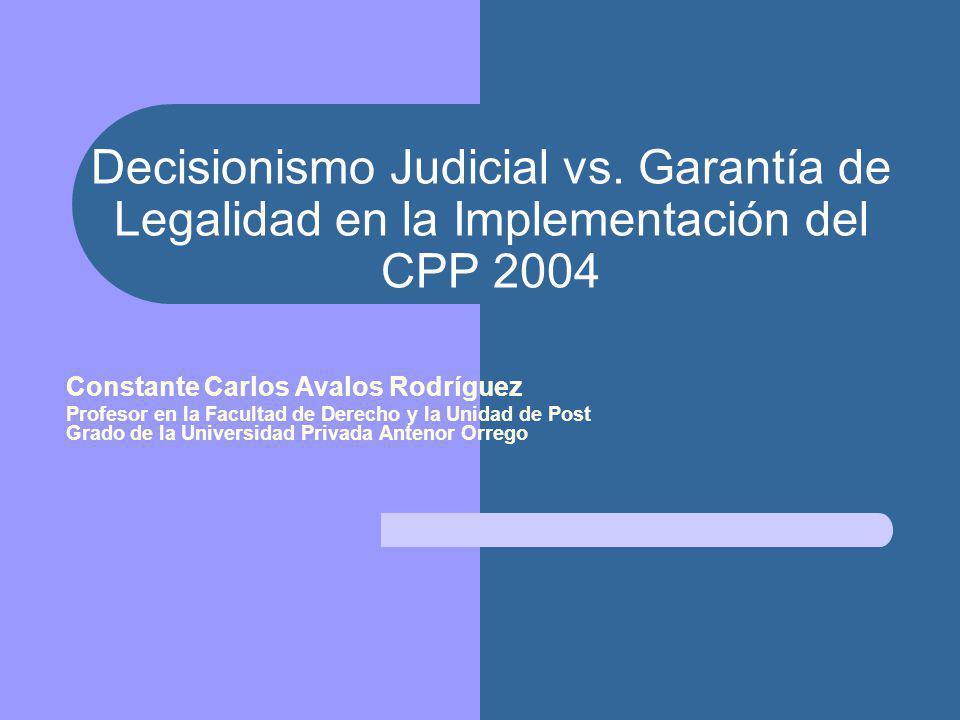 Decisionismo Judicial vs