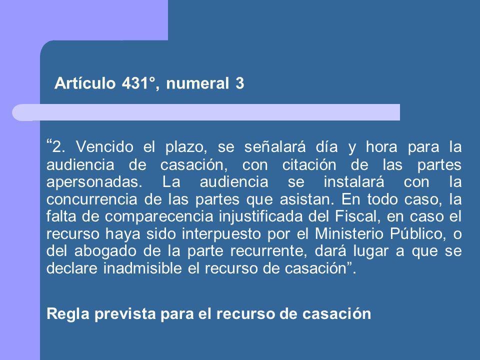 Artículo 431°, numeral 3
