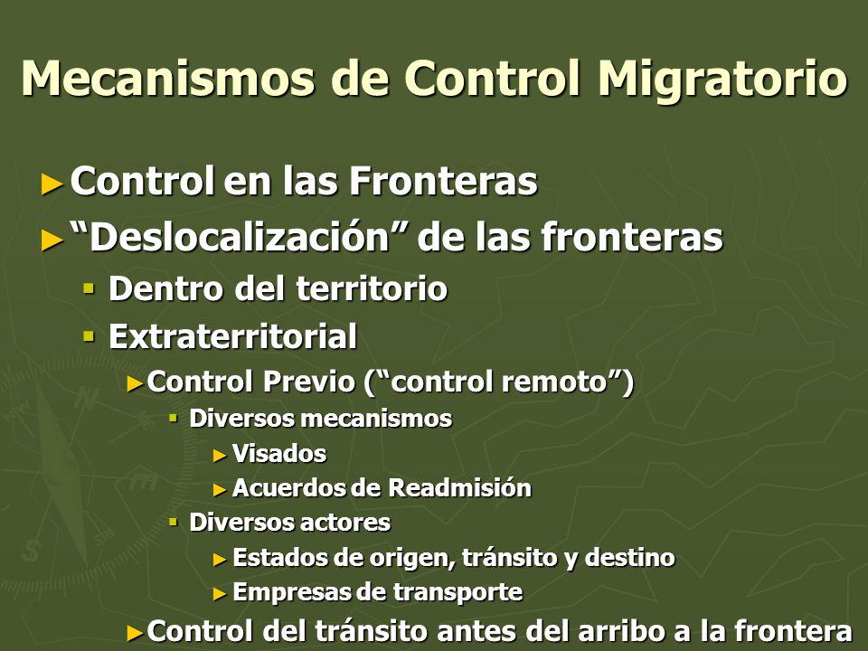 Mecanismos de Control Migratorio