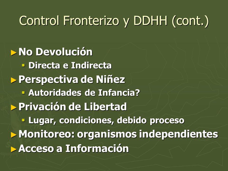 Control Fronterizo y DDHH (cont.)