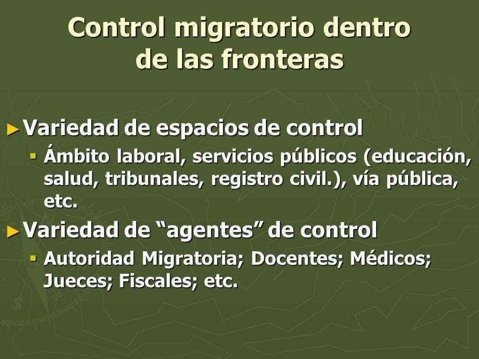 Control migratorio dentro de las fronteras