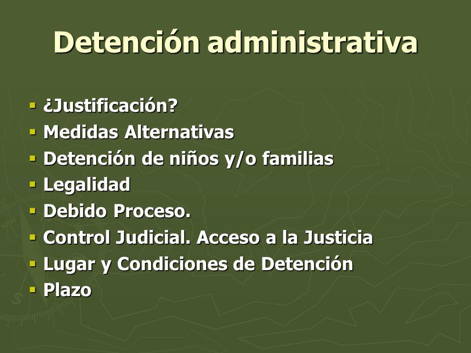 Detención administrativa