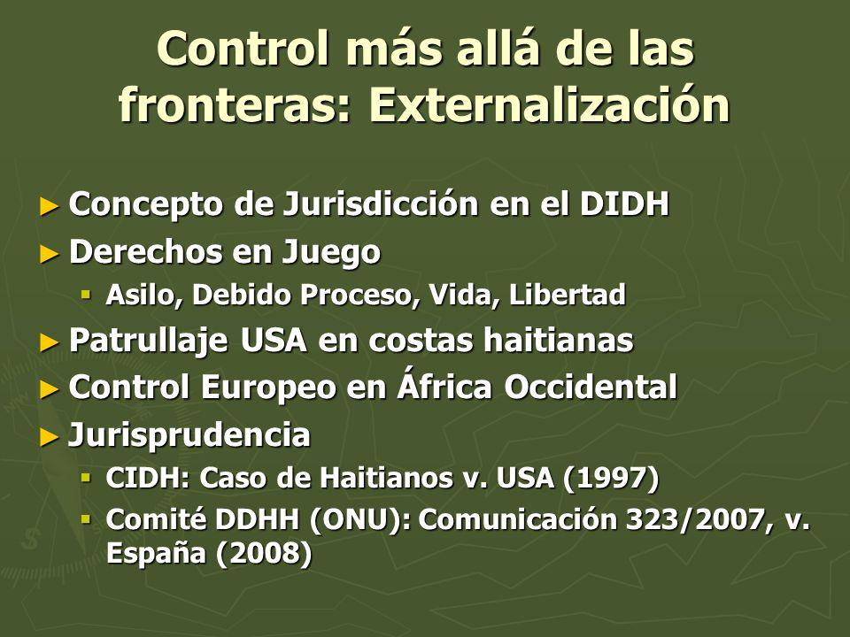 Control más allá de las fronteras: Externalización