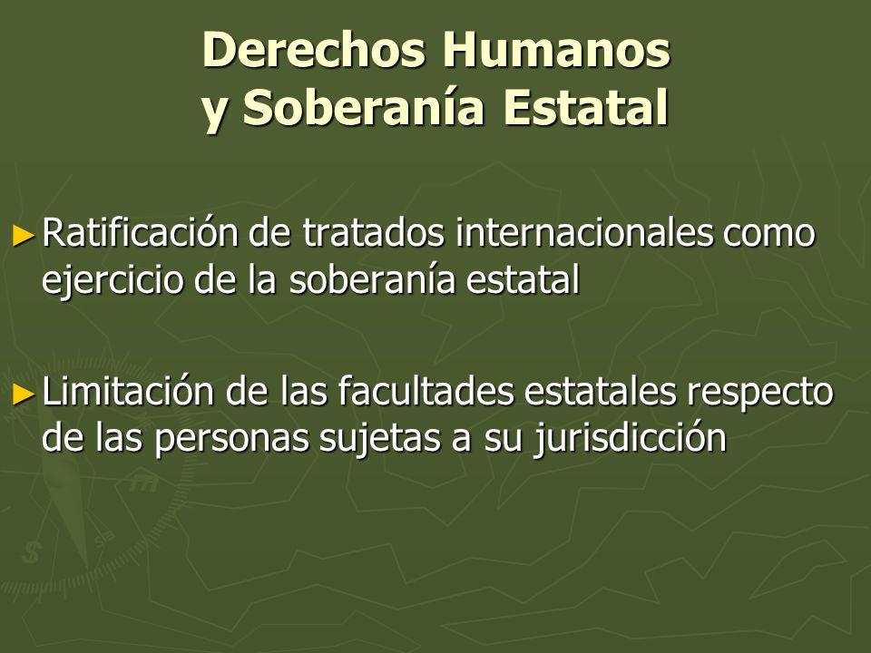 Derechos Humanos y Soberanía Estatal