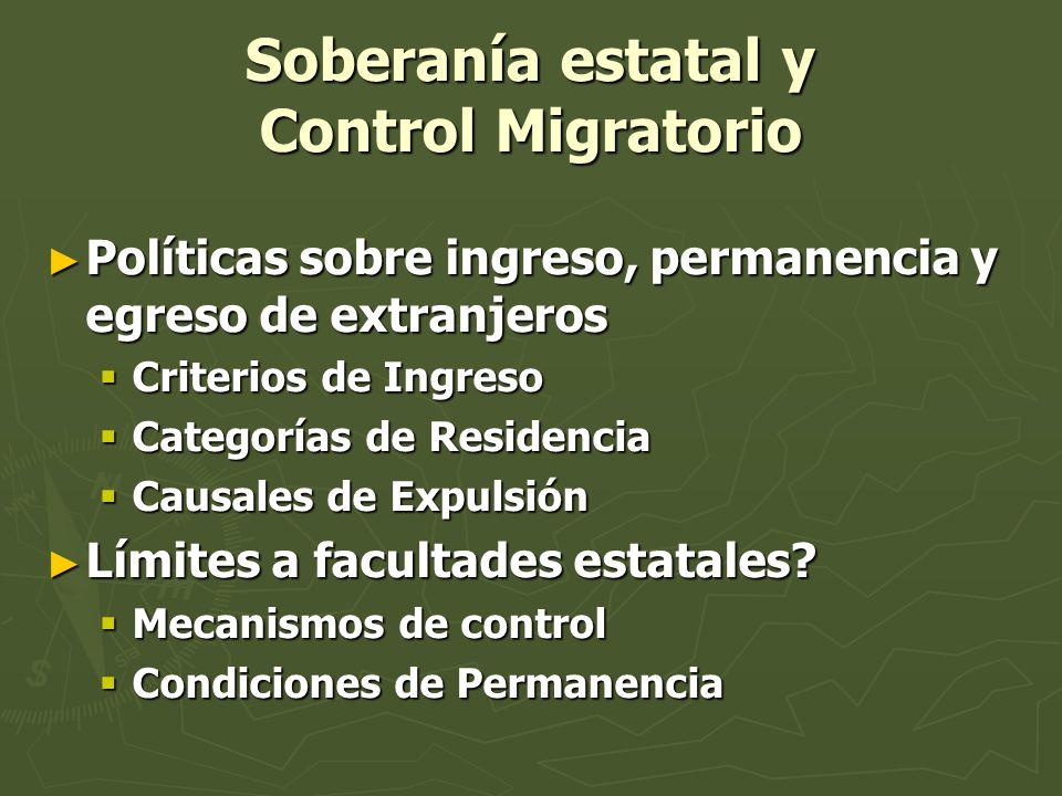 Soberanía estatal y Control Migratorio
