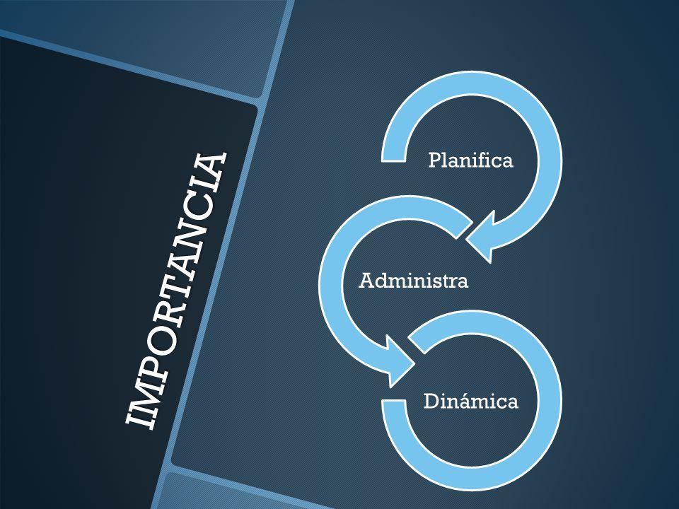 Planifica Administra Dinámica IMPORTANCIA