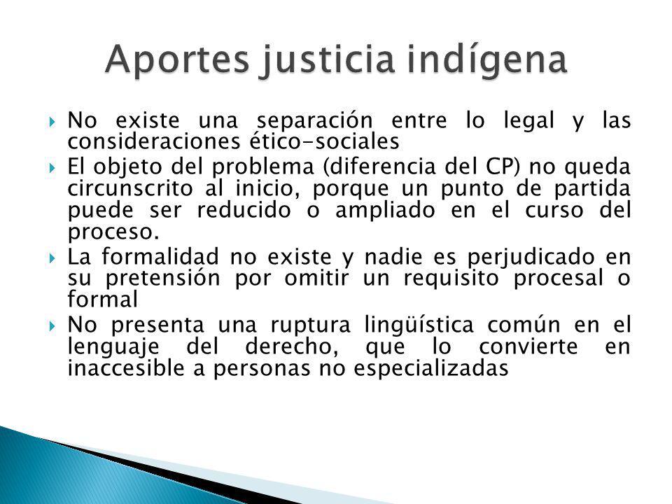 Aportes justicia indígena