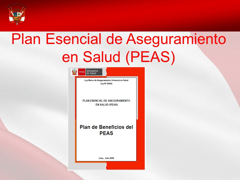 Plan Esencial de Aseguramiento en Salud (PEAS)