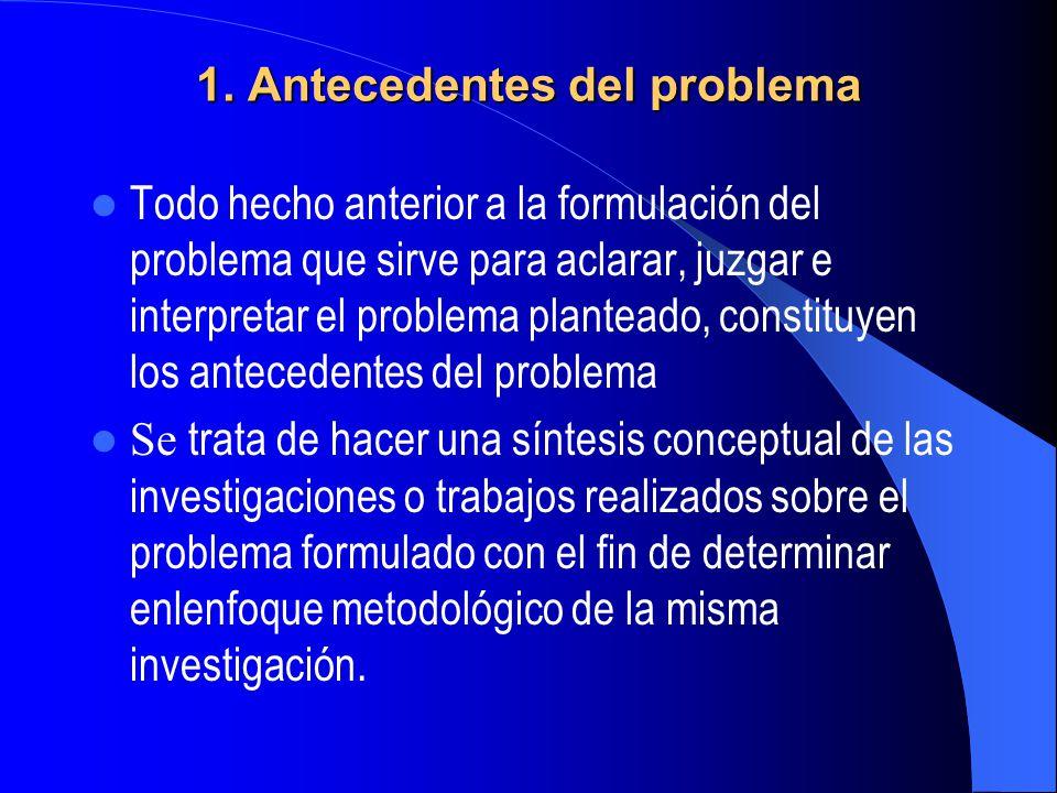 1. Antecedentes del problema