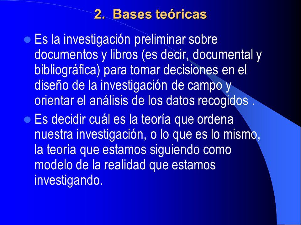 2. Bases teóricas