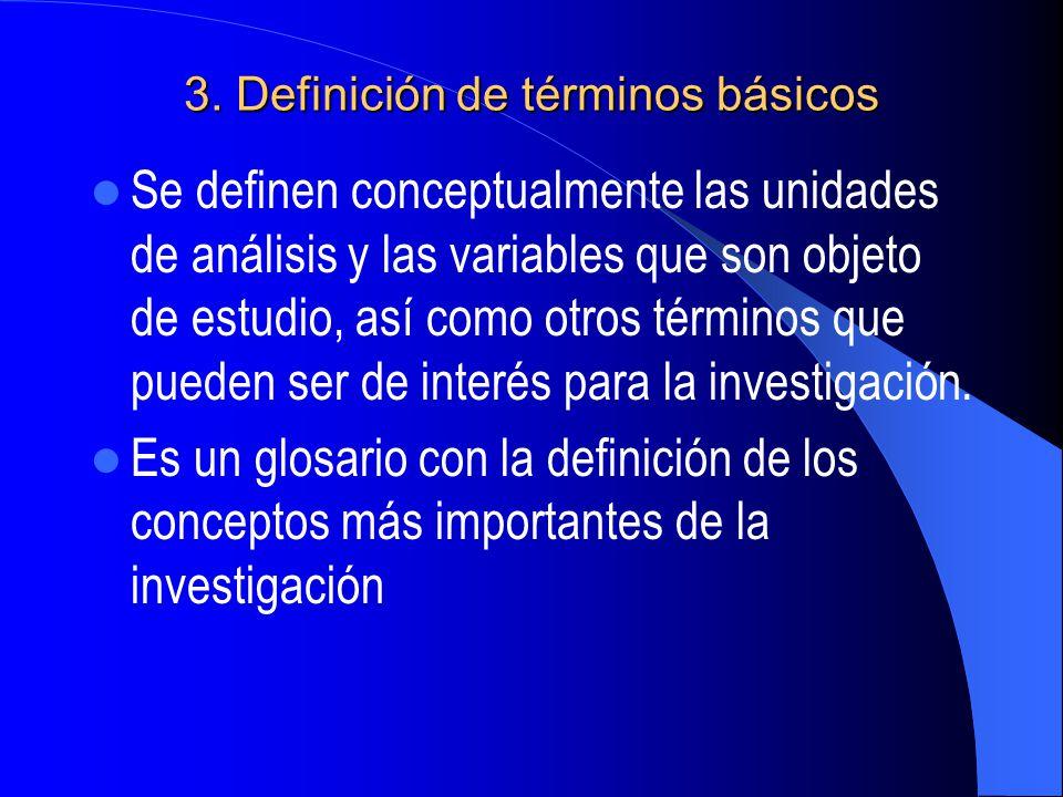 3. Definición de términos básicos