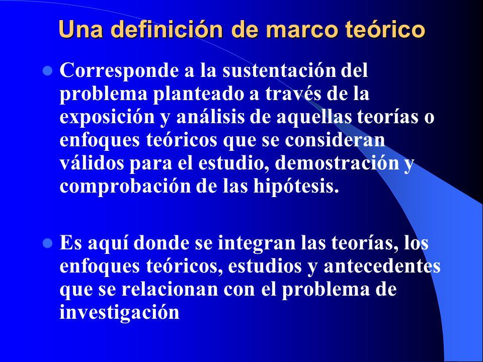 Una definición de marco teórico