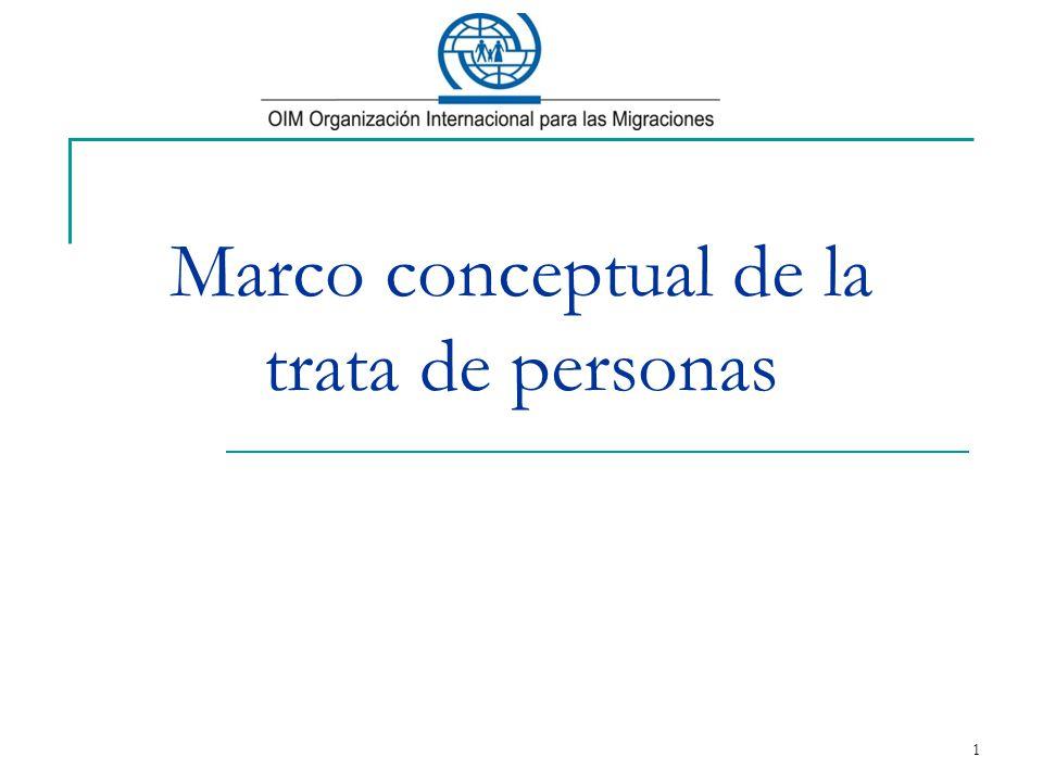Marco conceptual de la trata de personas