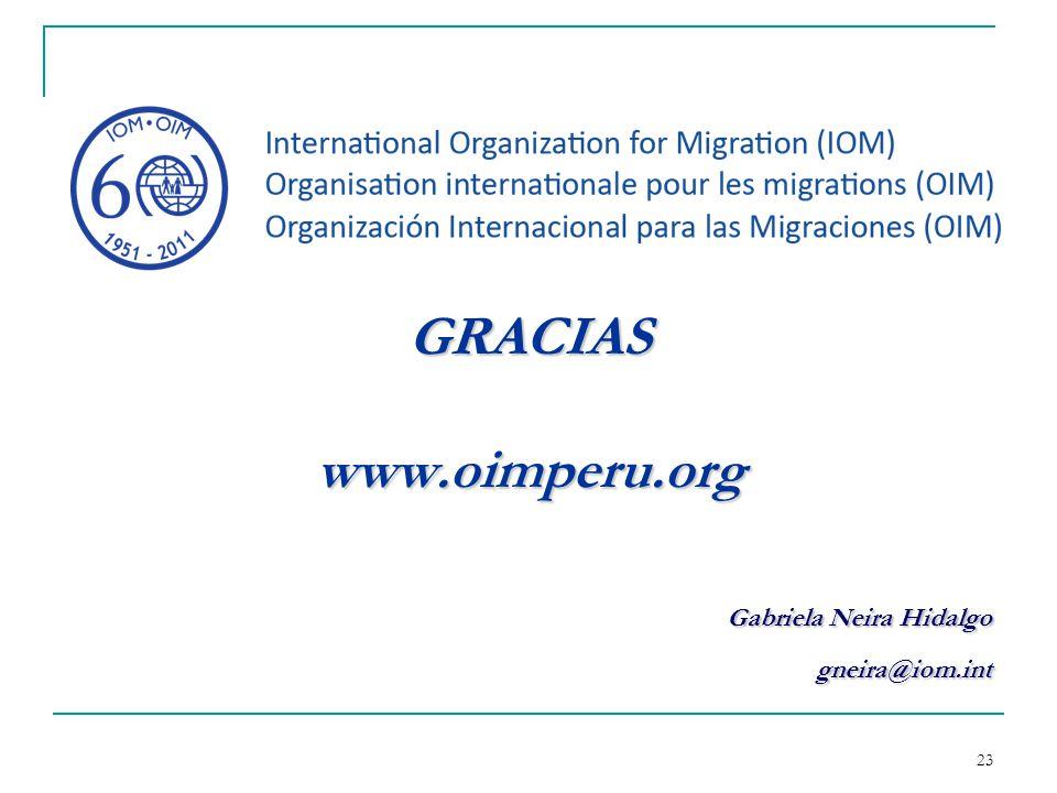GRACIAS www.oimperu.org