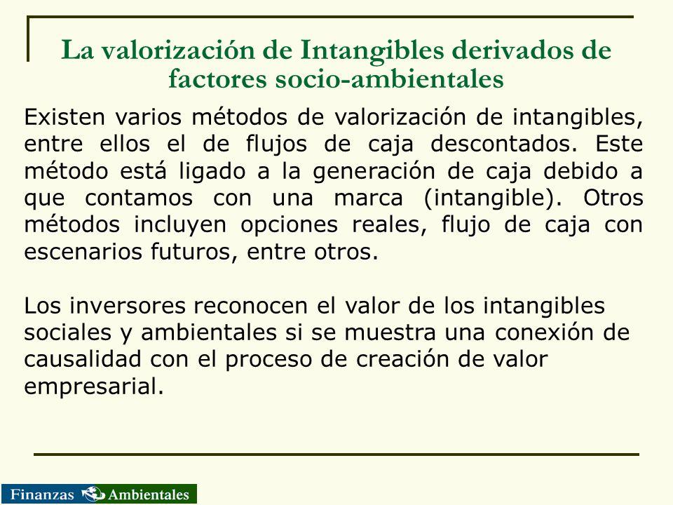 La valorización de Intangibles derivados de factores socio-ambientales
