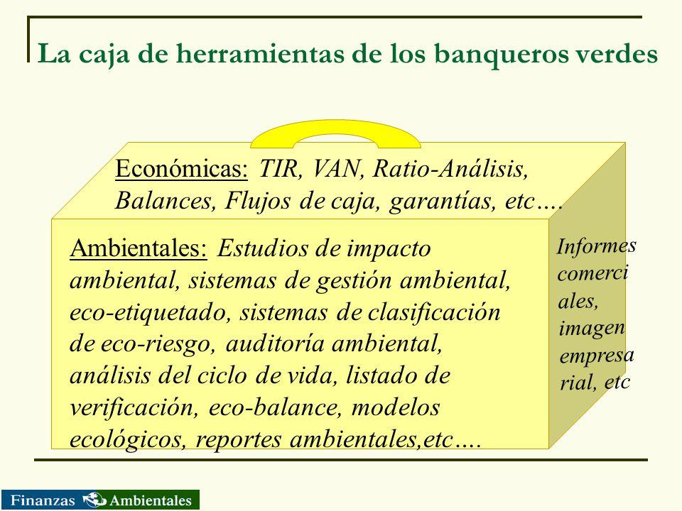 La caja de herramientas de los banqueros verdes