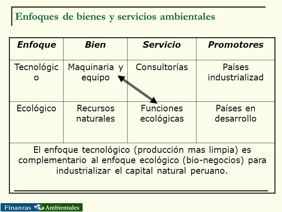 Enfoques de bienes y servicios ambientales