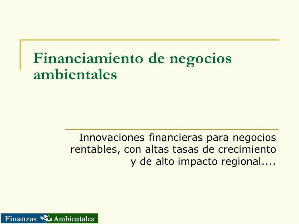 Financiamiento de negocios ambientales