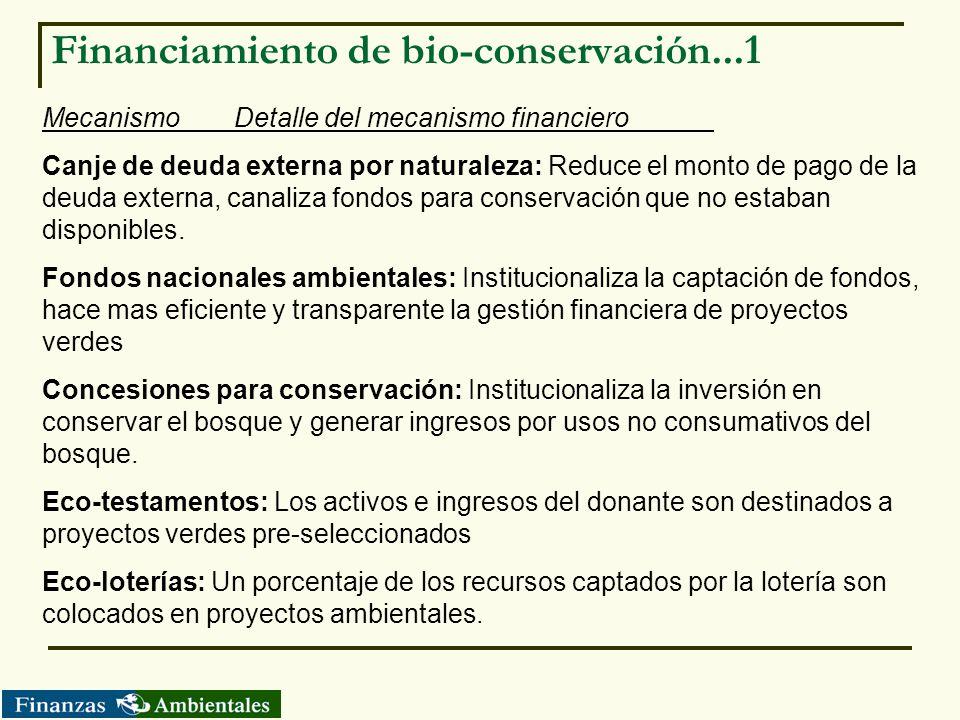 Financiamiento de bio-conservación...1