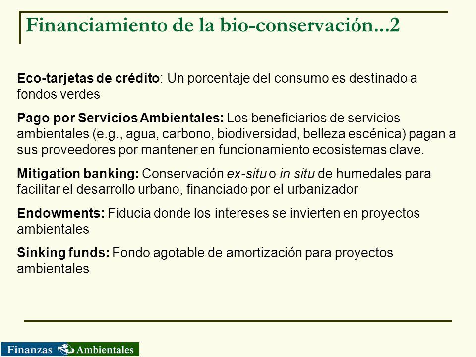 Financiamiento de la bio-conservación...2