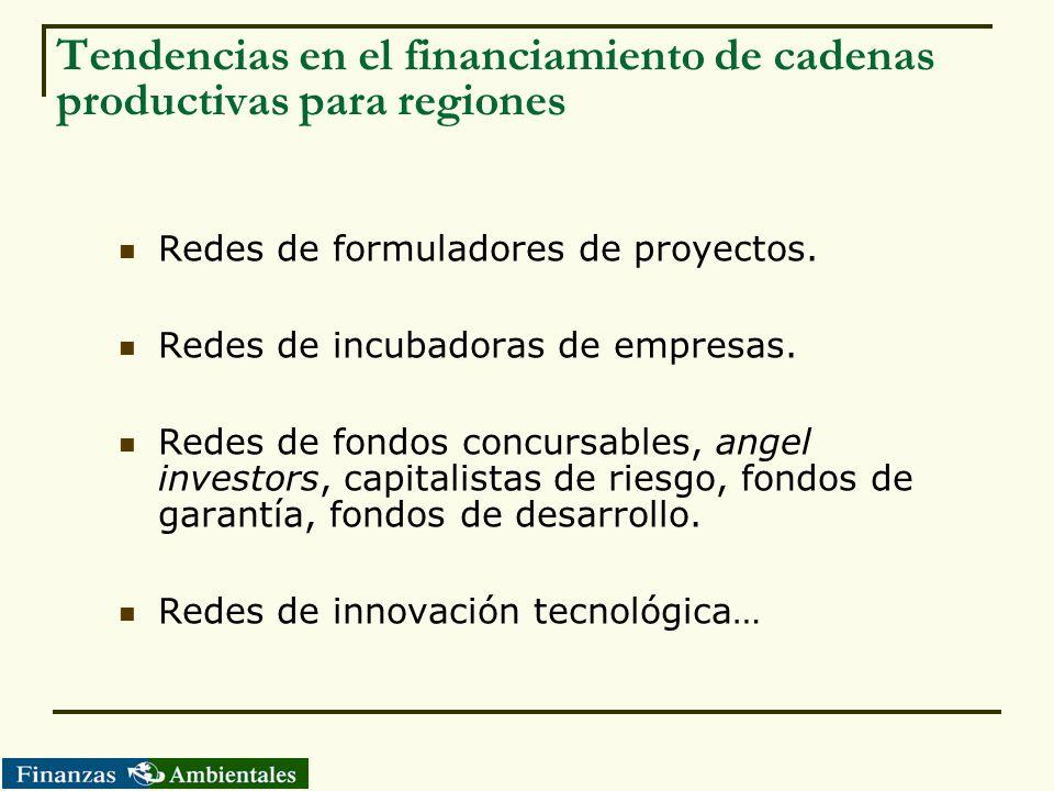 Tendencias en el financiamiento de cadenas productivas para regiones