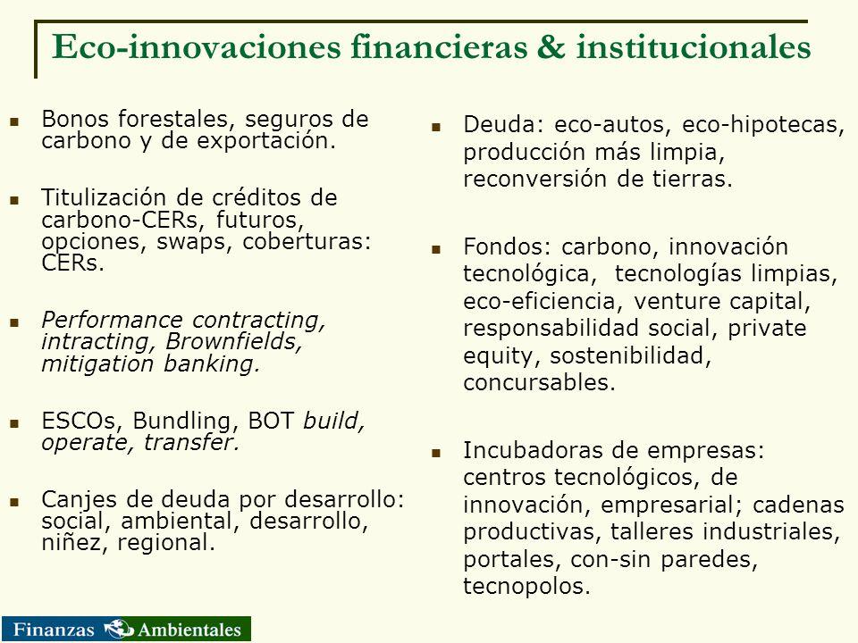 Eco-innovaciones financieras & institucionales