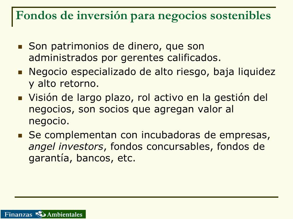 Fondos de inversión para negocios sostenibles