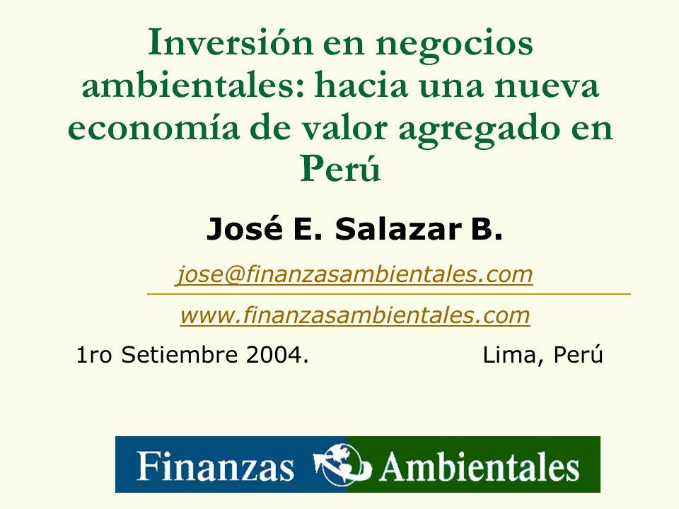 Inversión en negocios ambientales: hacia una nueva economía de valor agregado en Perú