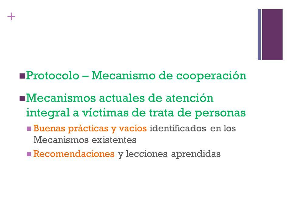 Protocolo – Mecanismo de cooperación