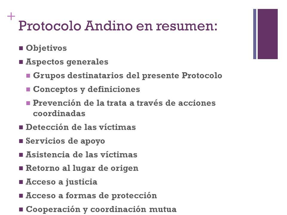 Protocolo Andino en resumen: