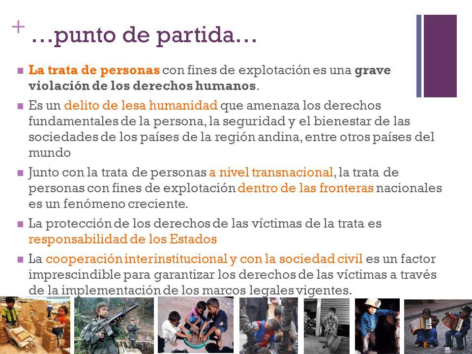 …punto de partida… La trata de personas con fines de explotación es una grave violación de los derechos humanos.