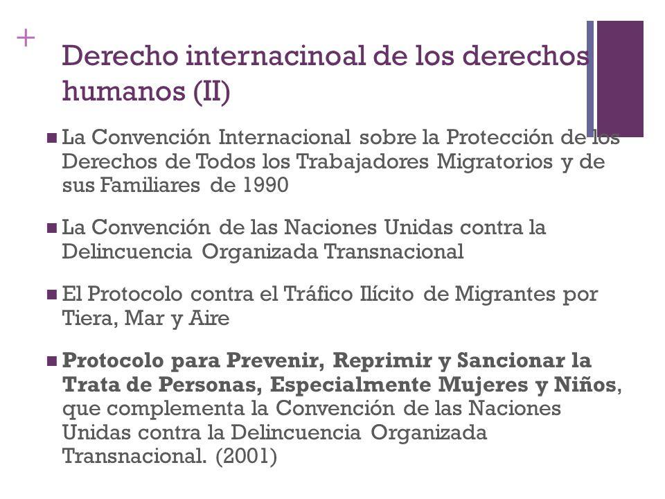Derecho internacinoal de los derechos humanos (II)