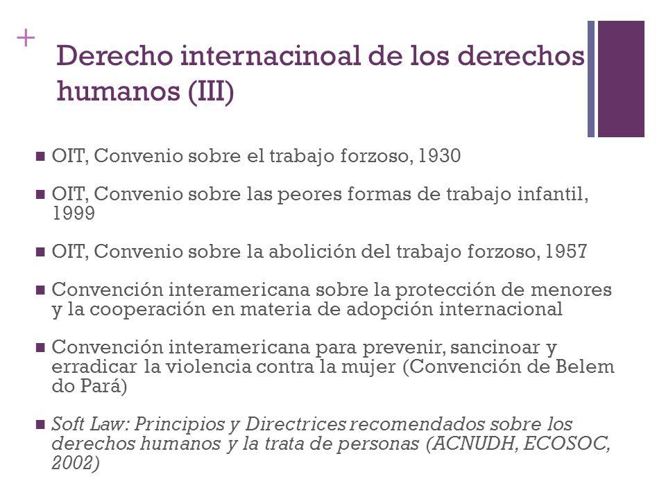 Derecho internacinoal de los derechos humanos (III)