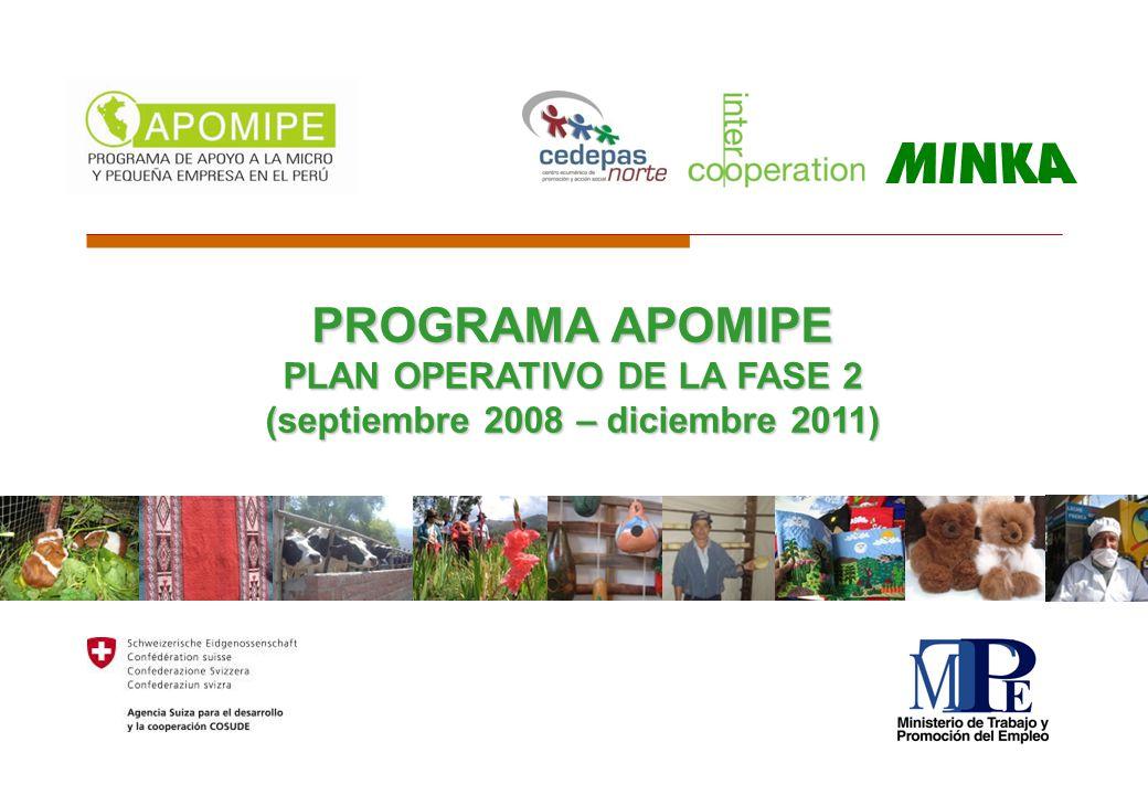 PROGRAMA APOMIPE PLAN OPERATIVO DE LA FASE 2