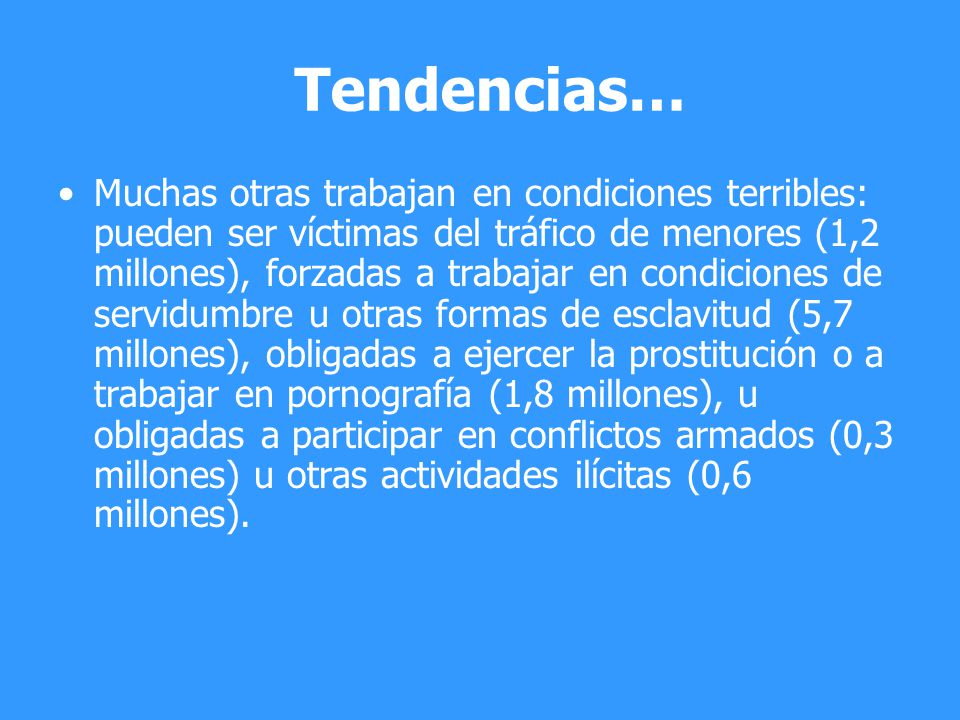Tendencias…