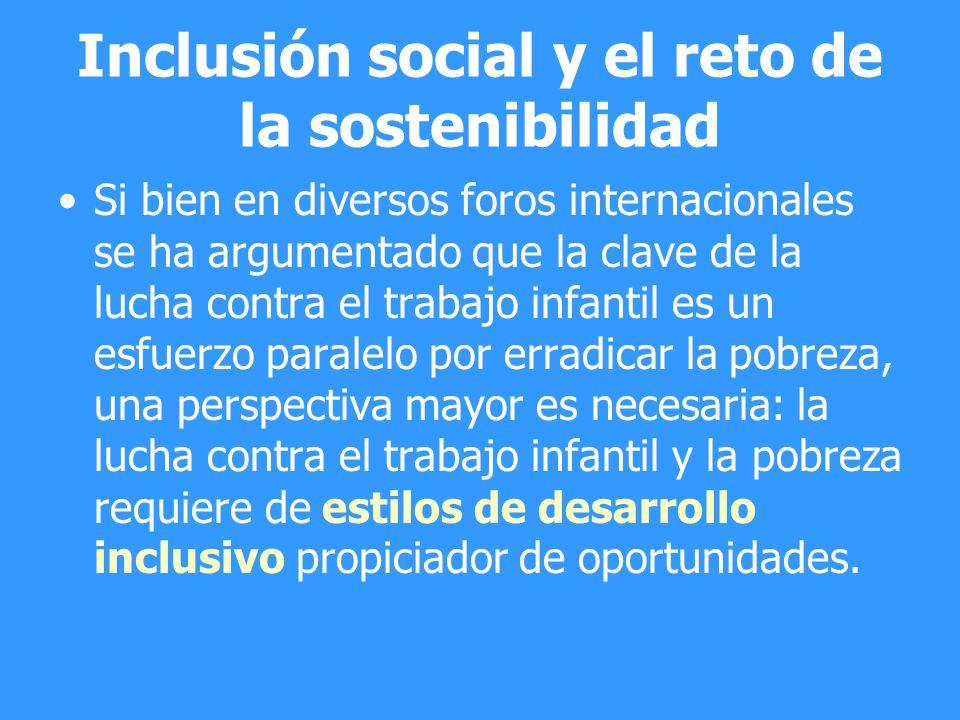 Inclusión social y el reto de la sostenibilidad