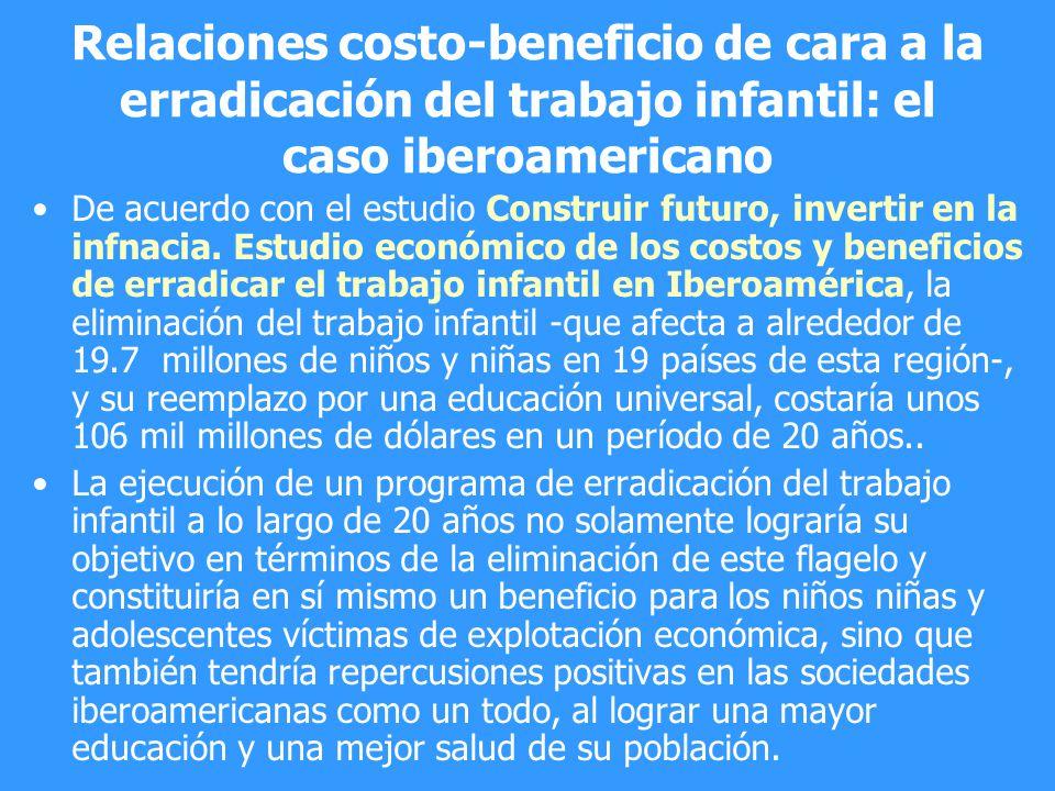 Relaciones costo-beneficio de cara a la erradicación del trabajo infantil: el caso iberoamericano
