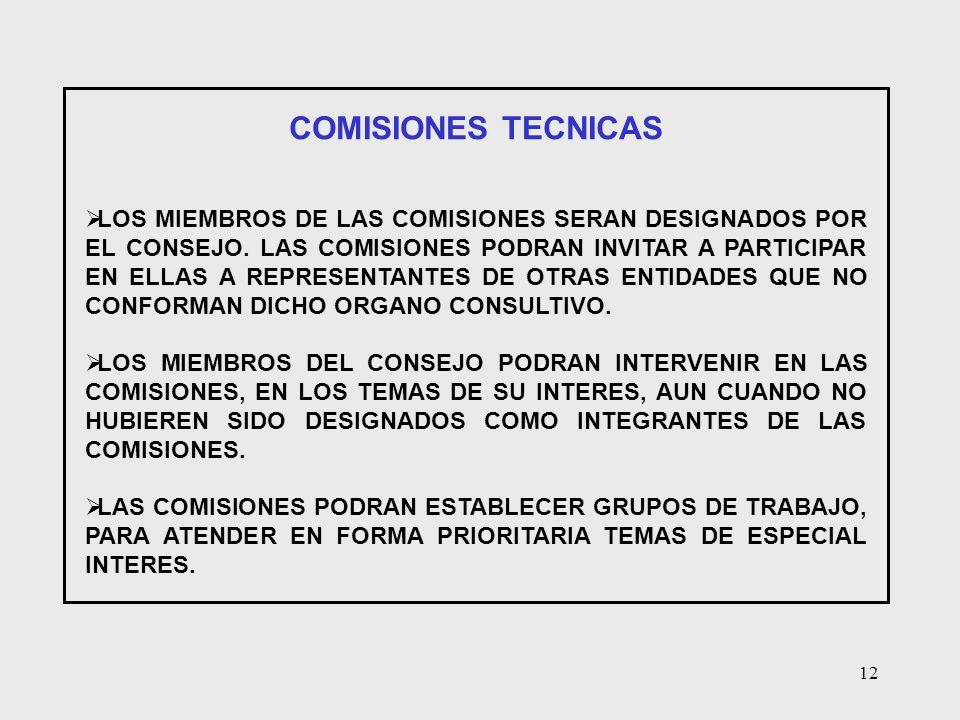COMISIONES TECNICAS