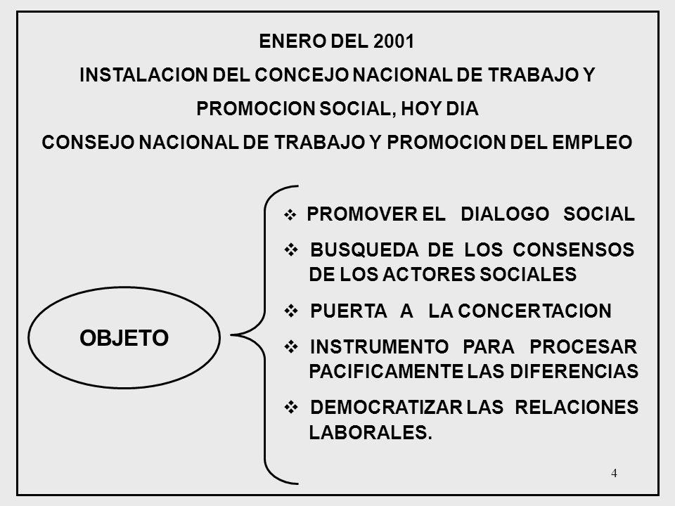 CONSEJO NACIONAL DE TRABAJO Y PROMOCION DEL EMPLEO