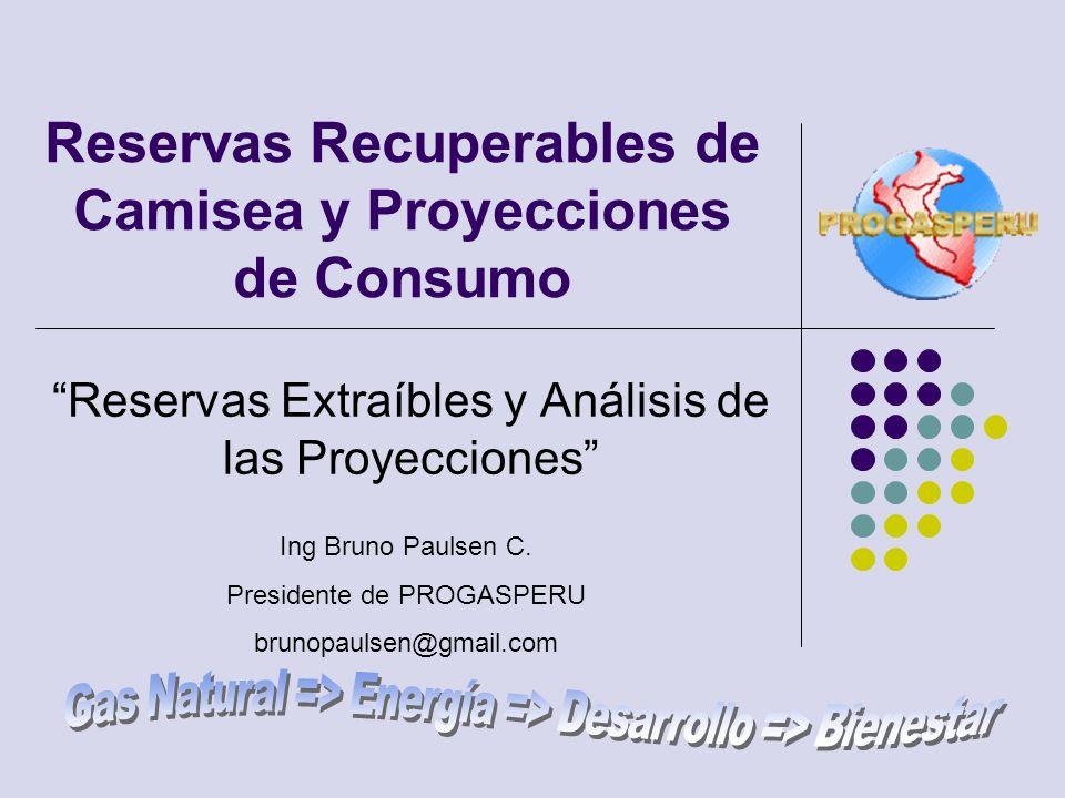 Reservas Recuperables de Camisea y Proyecciones de Consumo