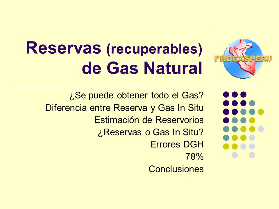 Reservas (recuperables) de Gas Natural