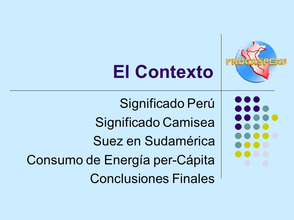 El Contexto Significado Perú Significado Camisea Suez en Sudamérica