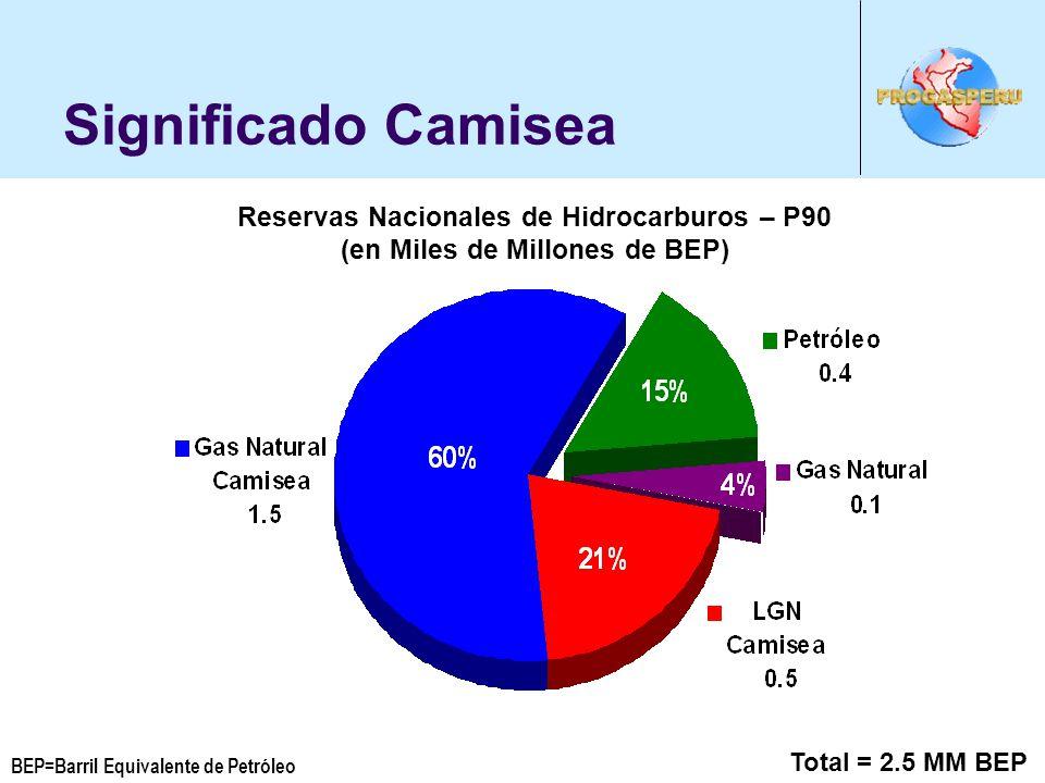 Significado Camisea Reservas Nacionales de Hidrocarburos – P90
