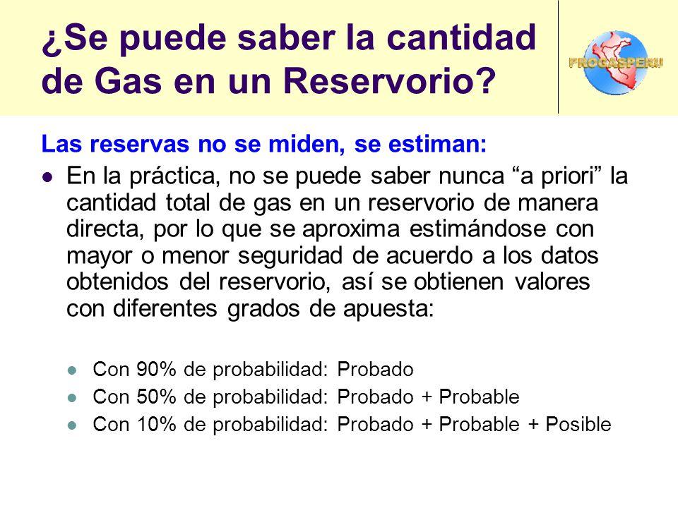 ¿Se puede saber la cantidad de Gas en un Reservorio