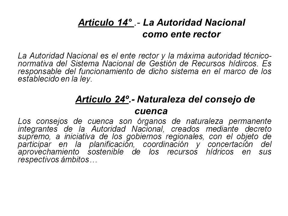 Articulo 24º.- Naturaleza del consejo de cuenca